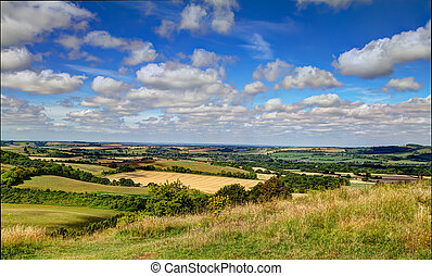 Old Winchester Hill - View from the bottom of Old Winchester...