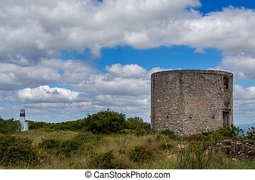 Old wind mill on Torres Vedras Portugal.