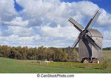Old Windmill In Germany - Old windmill in the north-eastern...