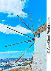 Old windmill in Mykonos