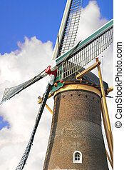 Old windmill in the town of Gorinchem. Netherlands