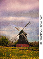 Old windmill of smock type, Germany