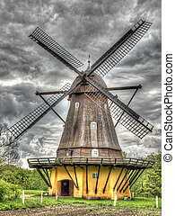 Old windmill shoot in HDR
