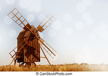 Old Windmill Summer Background