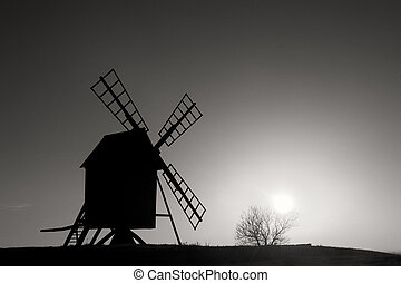 Old windmill Sweden