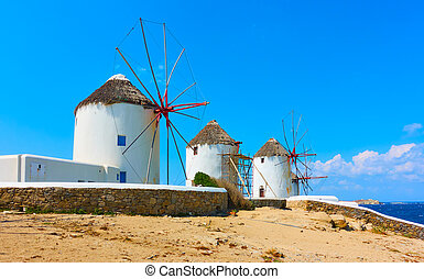 Old windmills in Mykonos