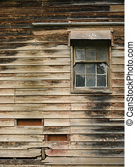 old window and wall