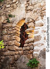 Old window in Jaffa, Israel