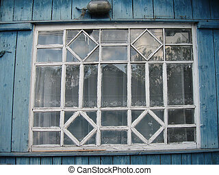 Old window in the house