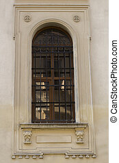 Old window on a building