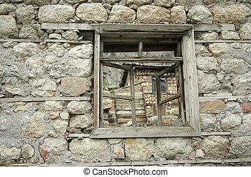 old window on wall