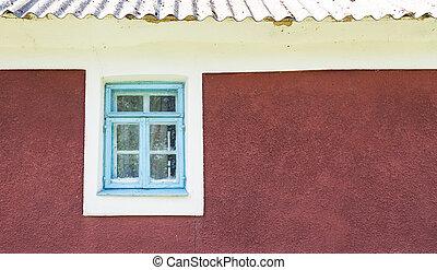old window wall