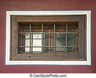 Old window with grid