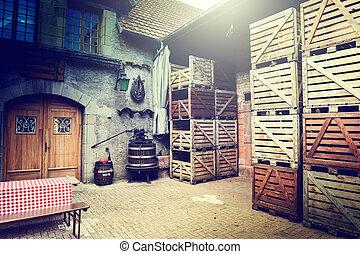 Old winery backyard