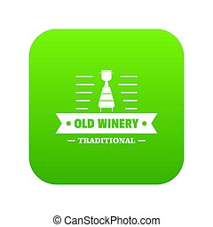 Old winery icon green