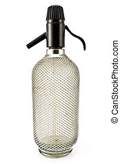 Old wired siphon glass bottle