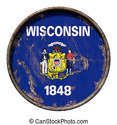 Old Wisconsin flag