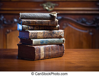 Old wisdom. - Beautiful antique books in very elegant...