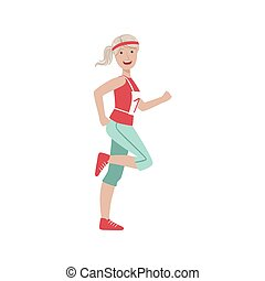 Old Woman Running A Marthon