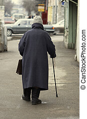 old woman - old age