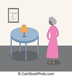 old woman vector