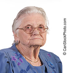 Old Woman with glasses
