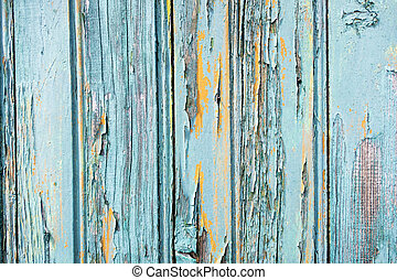 old wood background with paint peeling off