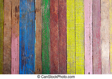 Old wood background with paint