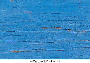 Old wood background with peeling paint.