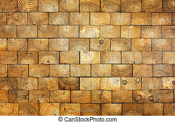Old wood bricks background