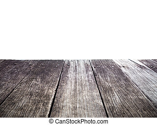 Old wood dock isolated