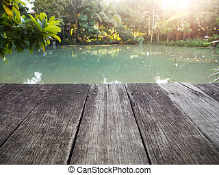 Old wood dock