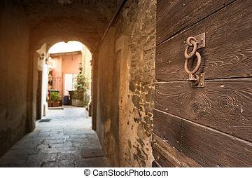 Old wood door.