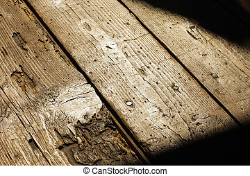 Old wood floor  close up