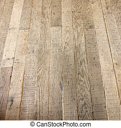 Old wood floor - Very old floor made from wood plank
