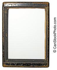 Old wood frame - Retro wood frame of old camera