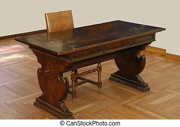 old wood furniture desk