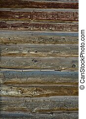 Old Wood Logs. Logs Background. Vertical Photo