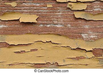 old wood peeling paint
