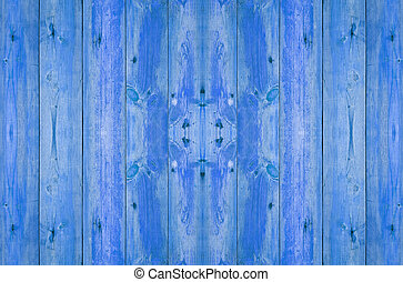 old wood plank in blue color