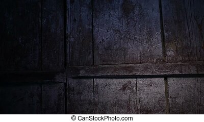 old wood plank texture night light effect background video -...