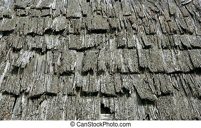 Old wood roof as background