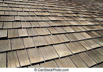 old wood roof shingles
