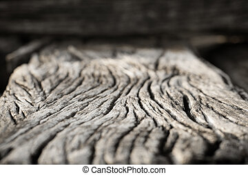 Old wood texture crack close up