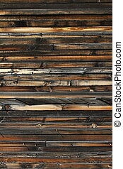 Old Wood Texture - Old weathered wood on the side of a barn