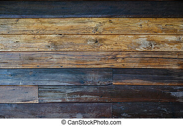 Old wood wall background Vintage wallpaper