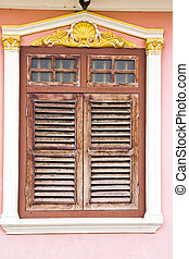 Old wood windows