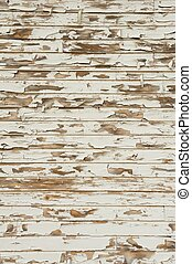 Old Wood with Peeling Antique White Paint