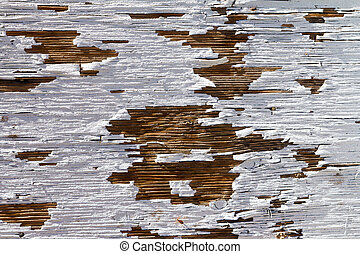 Old Wood With Peeling White Paint Texture