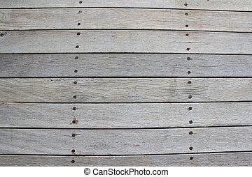 Old wood with screws